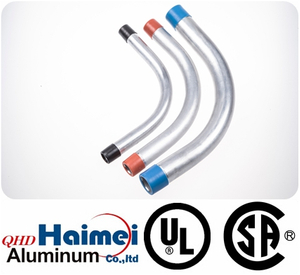 "1""UL Approved electrical rigid aluminum conduit elbows 90 degree"